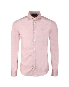 Emporio Armani Mens Red Small Logo Long Sleeve Shirt