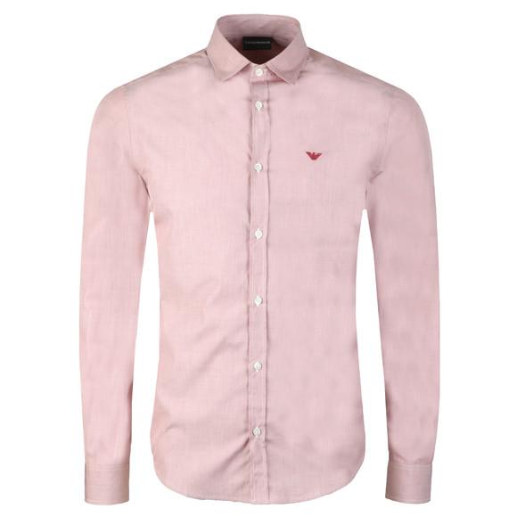 Emporio Armani Mens Purple Small Logo Long Sleeve Shirt