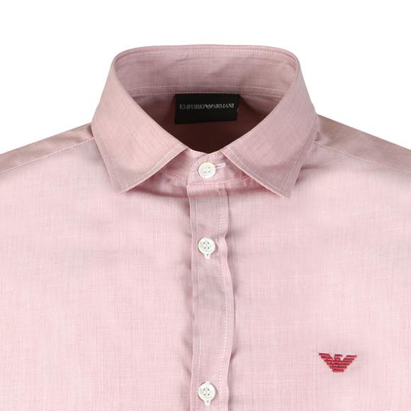 Emporio Armani Mens Red Small Logo Long Sleeve Shirt main image