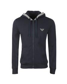 Emporio Armani Mens Blue Loungewear Zip Hoody