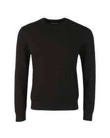 Emporio Armani Mens Black Small Logo Jumper