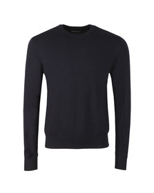 Emporio Armani Mens Blue Small Logo Jumper