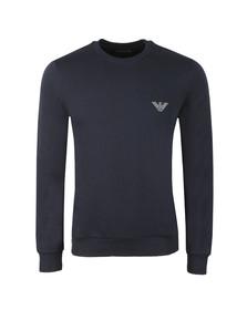Emporio Armani Mens Blue Loungewear Sweatshirt