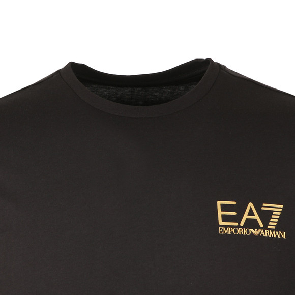 EA7 Emporio Armani Mens Black Small Logo Long Sleeve T Shirt main image