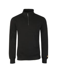Carhartt Mens Black Chase Half Zip Sweatshirt