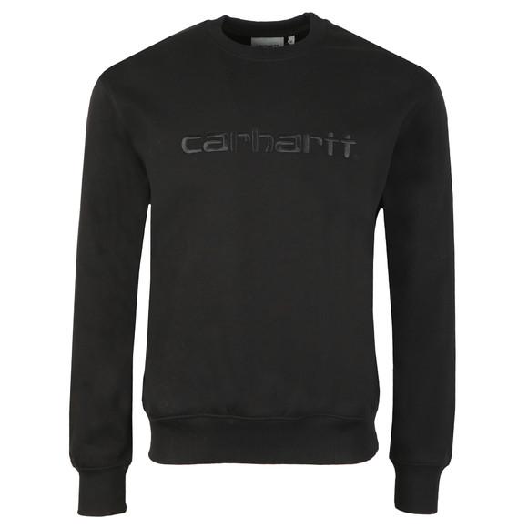 Carhartt WIP Mens Black Carhartt Sweatshirt main image