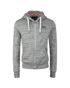 Superdry Mens Grey Orange Label Ziphood