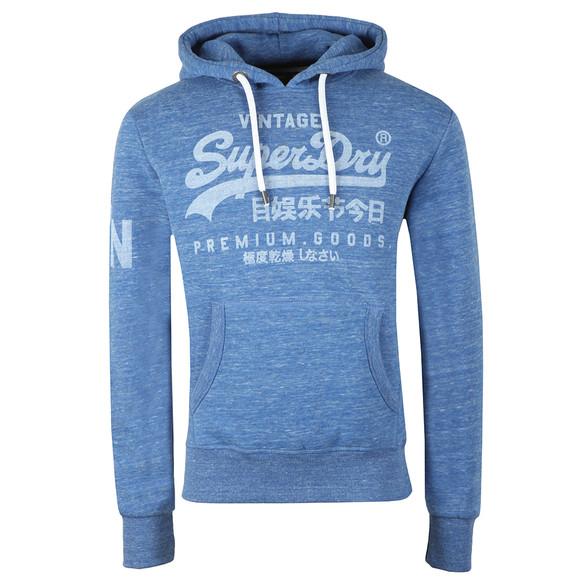 Superdry Mens Blue Premium Goods Hoodie main image
