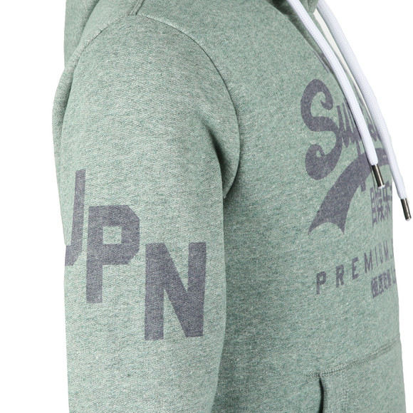 Superdry Mens Green Premium Goods Hoodie main image