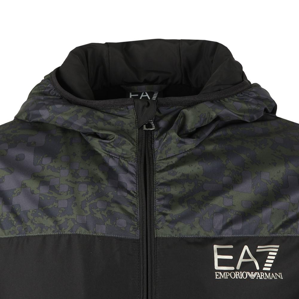 Camo Panel Hooded Bomber Jacket main image