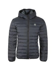 Pretty Green Mens Black Lightweight Quilted Hooded Jacket