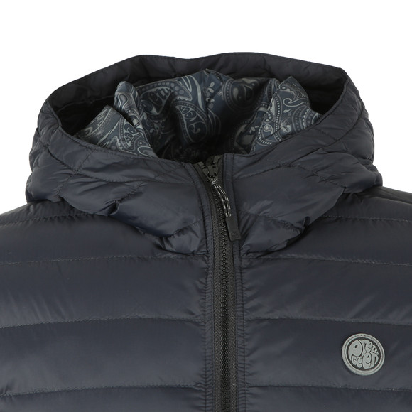 Pretty Green Mens Black Lightweight Quilted Hooded Jacket main image