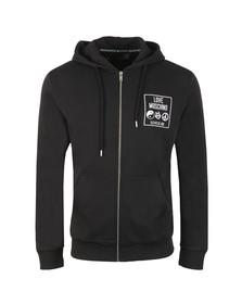 Love Moschino Mens Black Logo Core Hoody