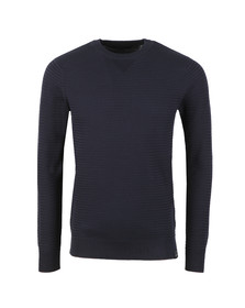 Scotch & Soda Mens Blue Chic Crew Neck Jumper