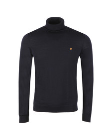 Farah Mens Blue Gosforth Merino Roll Neck