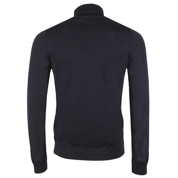 Farah Mens Blue Gosforth Merino Roll Neck main image