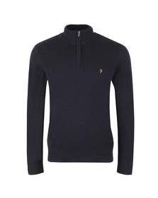 Farah Mens Blue Gallagher 1/4 Zip Jumper