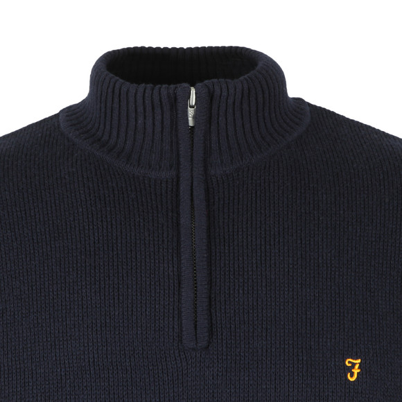 Farah Mens Blue Gallagher 1/4 Zip Jumper main image