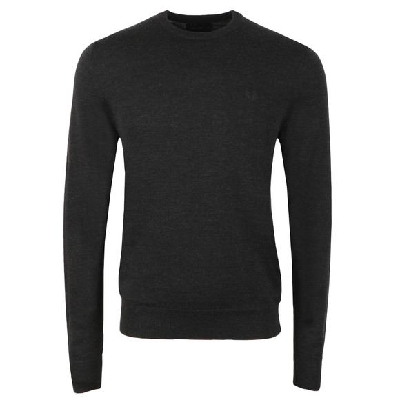 Fred Perry Mens Black Crew Neck Jumper main image
