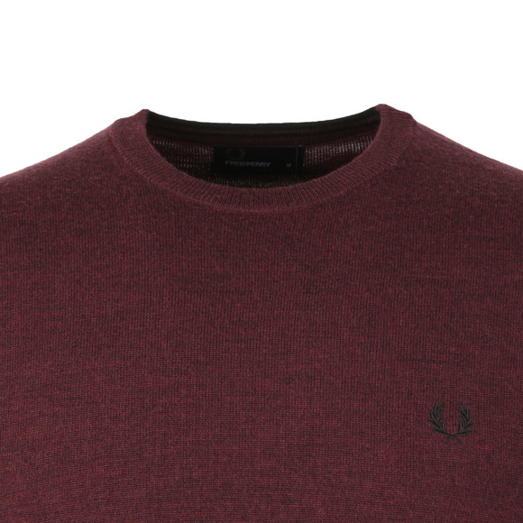 Fred Perry Mens Purple Crew Neck Jumper main image