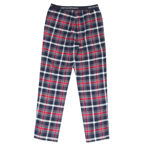 Emporio Armani Mens Blue Check Pyjama Trouser main image