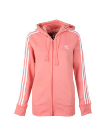 adidas Originals Womens Orange 3 Stripe Zip Hoodie