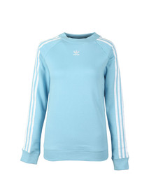 Adidas Originals Womens Blue Trefoil Crew Sweat