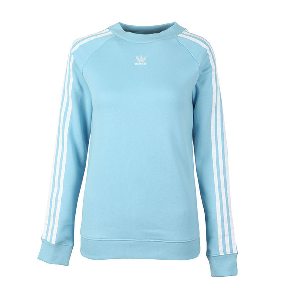 adidas Originals Womens Blue Trefoil Crew Sweat main image