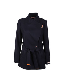 Ted Baker Womens Blue Rytaa Short Wool Wrap Coat