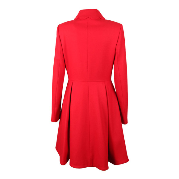 Ted Baker Womens Red Blarnch Scallop Trim Wool Coat main image