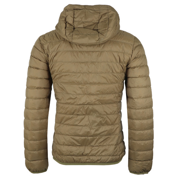 Pretty Green Mens Green Lightweight Quilted Hooded Jacket main image