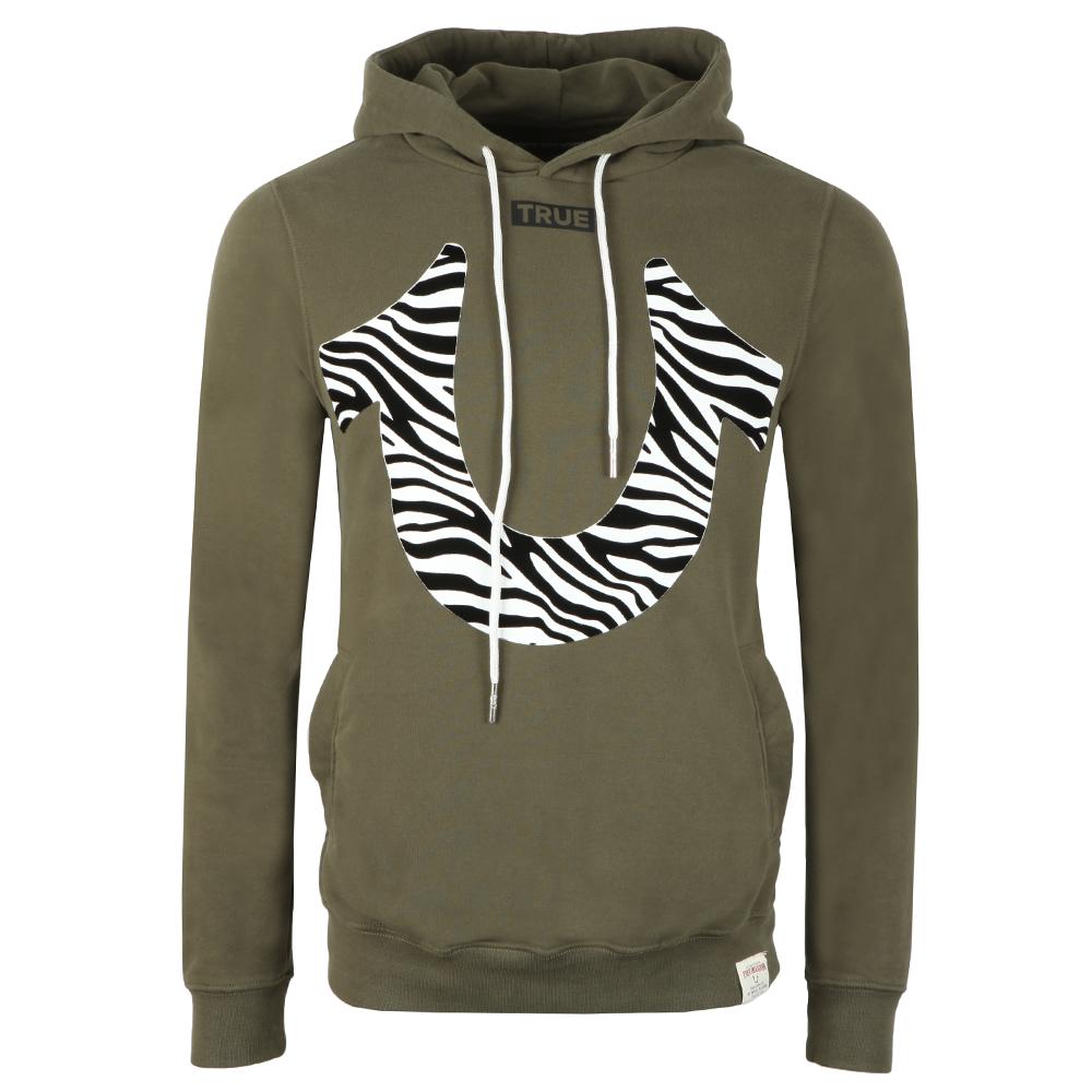 Zebra Print Horseshoe Hoody main image