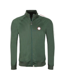 Pretty Green Mens Green Contrast Pannel Track Top