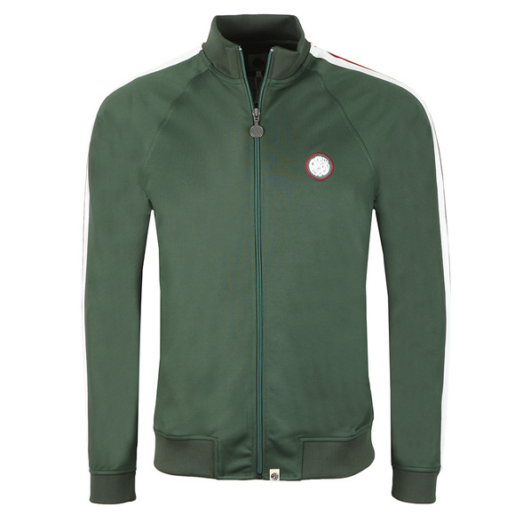 Pretty Green Mens Green Contrast Pannel Track Top main image