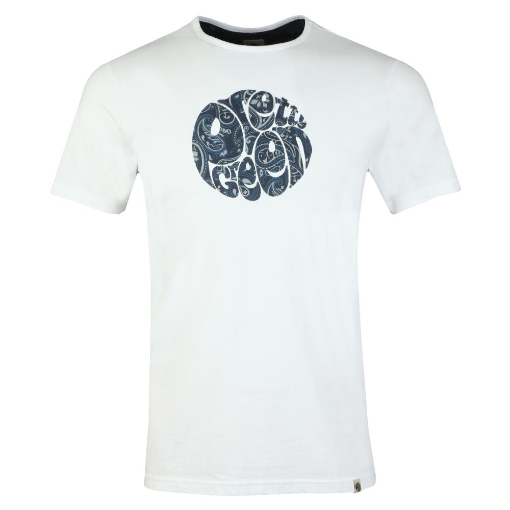 3bb9d8ff5c Pretty Green Paisley Print Logo T-shirt | Oxygen Clothing