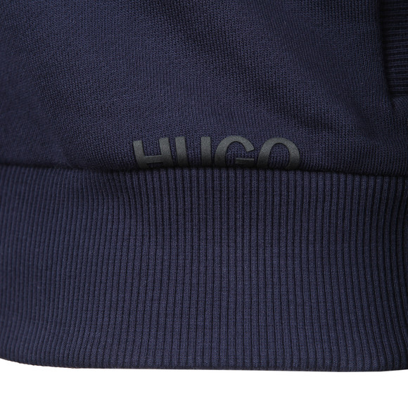 HUGO Mens Blue Daple-U1 Full Zip Hoody main image