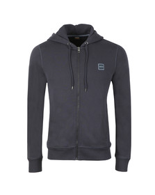 BOSS Orange Mens Blue Znacks Full Zip Hoody