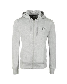 BOSS Orange Mens Grey Znacks Full Zip Hoody
