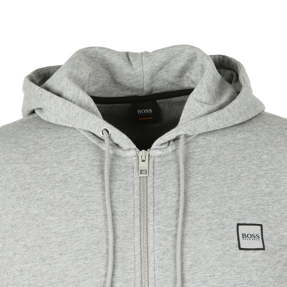 BOSS Mens Grey Casual Znacks Full Zip Hoody main image