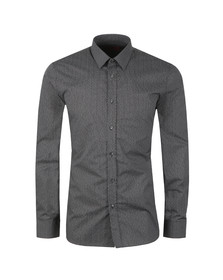HUGO Mens Black Elisha01 Patterned Shirt