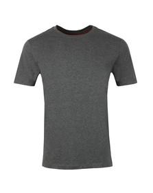 HUGO Mens Grey Dero Crew T Shirt