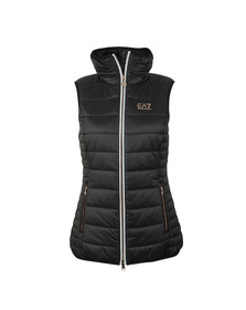 EA7 Emporio Armani Womens Black Lightweight Down Gilet