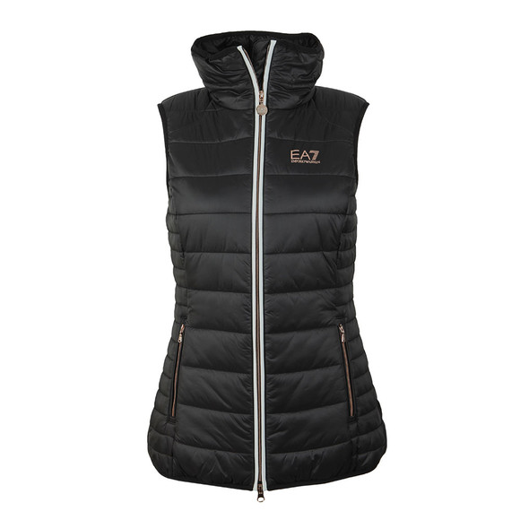 EA7 Emporio Armani Womens Black Lightweight Down Gilet main image