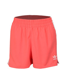 adidas Originals Womens Pink 3 Stripe Short