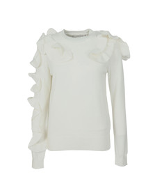 Ted Baker Womens Off-white Pallege Frill Sleeve and Shoulder Jumper