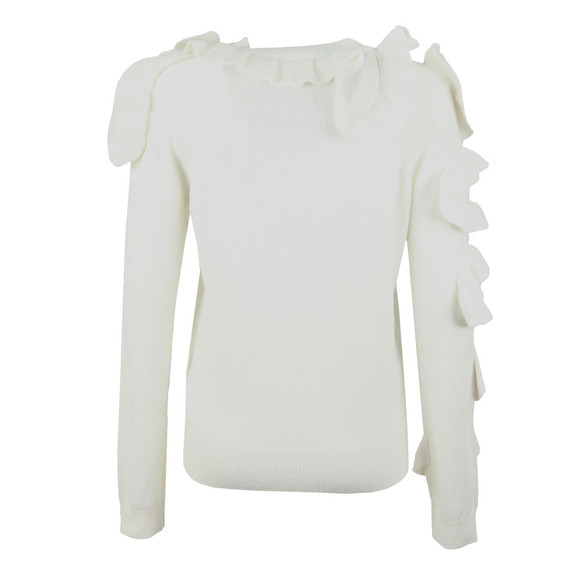 Ted Baker Womens Off-white Pallege Frill Sleeve and Shoulder Jumper main image