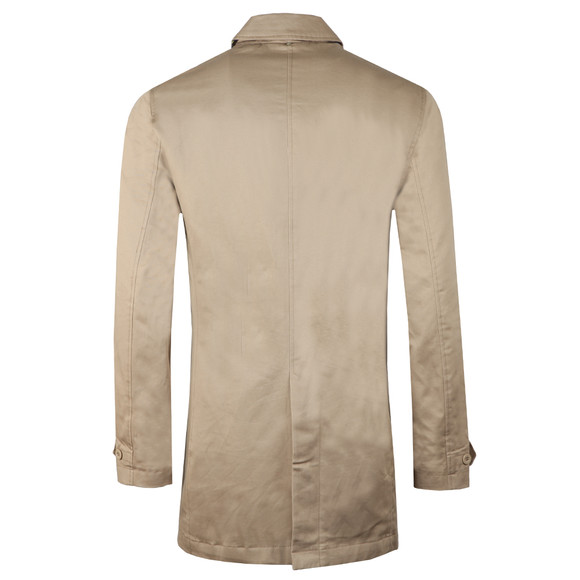 Pretty Green Mens Beige Button Up Mac main image
