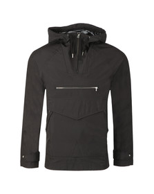 Pretty Green Mens Black Overhead Hooded Jacket
