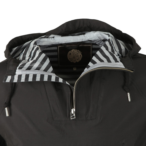 Pretty Green Mens Black Overhead Hooded Jacket main image