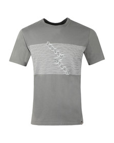 Pretty Green Mens Grey S/S Printed Tee